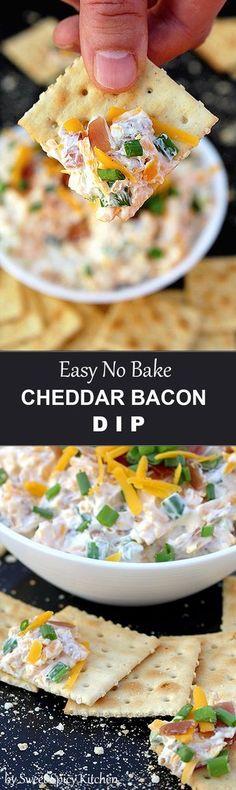 No Bake Cheddar Bacon Dip