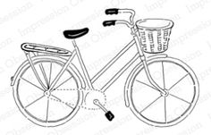 Riding Pretty. Impression Obsession rubber stamp. cling. $11.00
