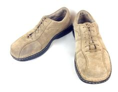 MERRELL-Shoes-SUEDE-Beige-ATHLETIC-Lace-Up-WALKING-Casual-OXFORDS-Mens-12-M