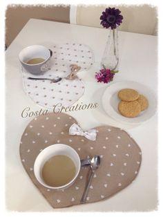 Tovagliette colazione romantic chic di CostaCreation su Etsy
