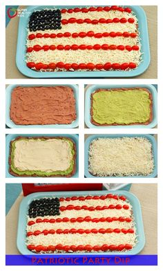 Patriotic Party Dip Recipe - Still need a party dish? Try our Patriotic Party Dip and have a great weekend! Happy Fourth! http://www.superhealthykids.com/patriotic-party-dip/