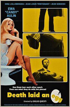 """DEATH LAID AN EGG 1968 Ewa Aulin """"Candy""""--Thriller"""