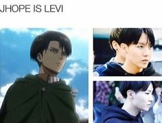 Honestly, I feel like J-Hope, Jungkook and Jimin could ALL be Levi
