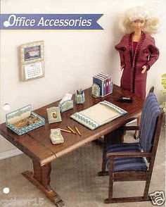 Office Accessories ~ Fashion Doll Plastic Canvas Pattern from Annie's ~LAST ONE