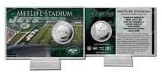 New York Jets Silver Coin Card - Stadium