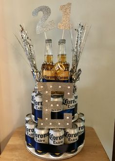 Corona Birthday Beer Cake - - Corona Birthday Beer Cake Boyfriend or girlfriend ❤️ Corona Geburtstag Bierkuchen Boyfriends 21st Birthday, Birthday Gifts For Boyfriend Diy, Creative Birthday Gifts, Diy Birthday, Birthday Beer, Cake Birthday, Boys 21st Birthday, Birthday Surprise Ideas, 21st Birthday Gifts For Guys