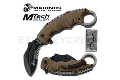 U.S. Marines by MTech USA USA M-A1019BTCS SPRING ASSISTED KNIFE