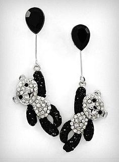 cute cute #panda earrings
