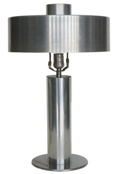 Art Deco Machine Age Spun Aluminum Table Lamp