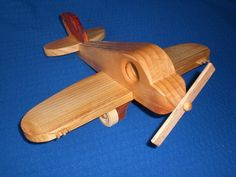 NC Wood Toy Fighter Plane