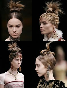Alexander McQueen creates gorgeous hair do's for A/W 08 | Kiss And Makeup - via http://bit.ly/epinner