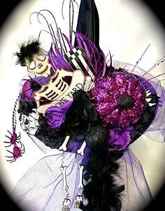 Bone Yard Witch Hat Halloween Costumes OOAK by Marcellefinery