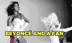 Beyoncé Giselle Knowles does it all. Charity work, gracing fans with her presence, and sometimes both at once! | Can You Guess Who's The Fan In Each Photo Of Beyoncé?