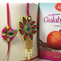 Exotic Paper Rakhi with Haldiram Gulab Jamun