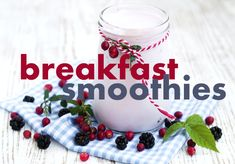 Breakfast smoothie recipes for fall/autumn
