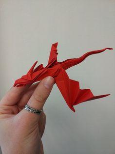 Origami Snake Dragon folded by NixGaunt.deviantart.com on @deviantART