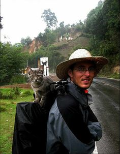 The Most Adventurous Cat In The World.  I love this so much!