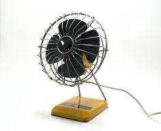 Vintage Desk Fan / Retro Orange Electric Table Fan / Turkish Brand DÜNDAR Super Lux 70s / Made in Turkey