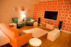 orange and turquoise: modern