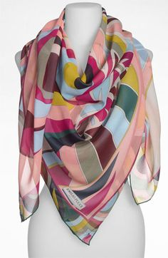 Emilio Pucci 'One Profile Timeless' Silk Scarf available at #Nordstrom