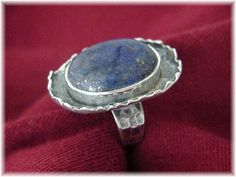 Midnight Moon  Moonscape Blue Lapis Sterling by FindMeTreasures, $129.00