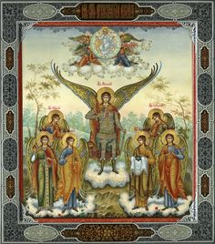Seals of the Seven Archangels - Religious Icons, Religious Art, Nordic Aliens, Seven Archangels, Christian Mysticism, Church Icon, Angel Images, Religious Paintings, Best Icons