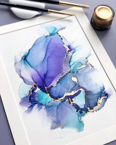Alcohol Ink Crafts, Alcohol Ink Painting, Alcohol Ink Art, Watercolor Wallpaper, Watercolor Art, Art Du Monde, Ink In Water, Acrylic Art, Resin Art