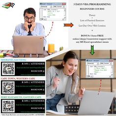 VBA Programming Beginners Course on Microsoft Excel ... for the absolute beginner ... write your own Application within 3 days,  courses available in Midrand, Cape Town and Port Elizabeth in October... get now at early bird discount price. #ESS #excelspreadsheetsupport #microsoftexcel #excel #vba #macro Microsoft Excel, Port Elizabeth, Early Bird, Discount Price, Cape Town, Programming, October, Free, Content