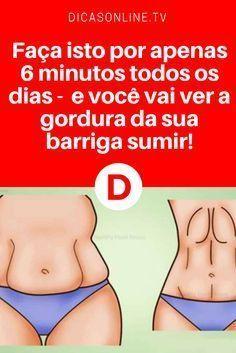 Exercícios para secar barriga | Faça isto por apenas 6 minutos todos os dias - e você vai ver a gordura da sua barriga sumir! São apenas seis minutos de por dia. Aprenda ↓ ↓ ↓
