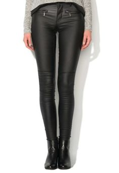 Pantaloni peliculizati dama negri skinny stil biker Biker, Leather Pants, Skinny, Fashion, Templates, Leather Jogger Pants, Moda, Fashion Styles, Lederhosen