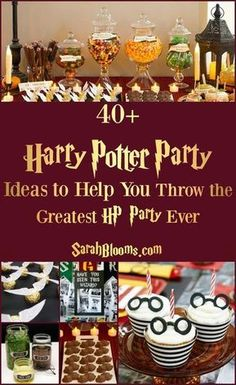The Harry Potter nerd in me is excited by everything in this pin! Use some ideas to tackle some DIY Harry Potter party fun and save money.