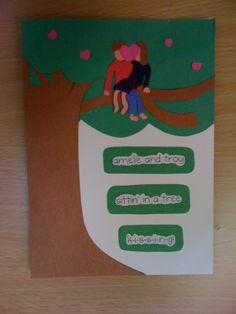K-I-S-S-I-N-G #wedding #cards #crafts