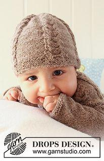 Little Chestnut Socks / DROPS Baby 19-23 - Ilmaiset neuleohje DROPS Designilta Baby Knitting Patterns, Baby Cardigan Knitting Pattern, Knitting Stitches, Baby Patterns, Free Knitting, Drops Design, Drops Baby, Magazine Drops, Pull Bebe