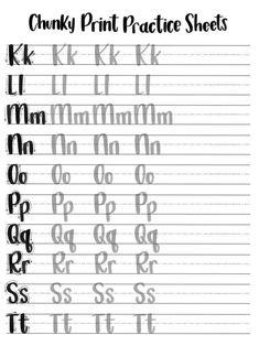 Hojas de práctica de impresión gruesa minúsculas & | Etsy Lettering Guide, Chalk Lettering, Lettering Styles, Brush Lettering, Printing Practice, Hand Lettering Practice, Hand Lettering Alphabet, Beginner Hand Lettering, Calligraphy Worksheet