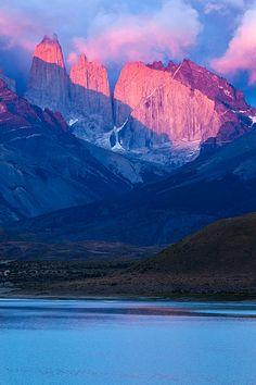 Sunrise on Torres de Paine National Park, Patagonia, Chile
