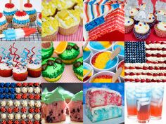 of July recipes. the flag cake is easy. but you could do 24 cupcakes underneath. Summer Treats, Summer Desserts, Holiday Treats, Fun Desserts, Summer Recipes, Holiday Fun, Dessert Ideas, Festive, Dessert Recipes