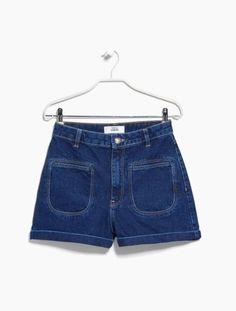 SHOP: High Waisted Denim Shorts - Mango High-Waist Denim Shorts, $49.99; at Mango