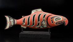 A Tlingit salmon rattle