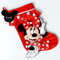 Minnie Mouse Christmas Stocking – Create-A-Gift - SOLD OUT