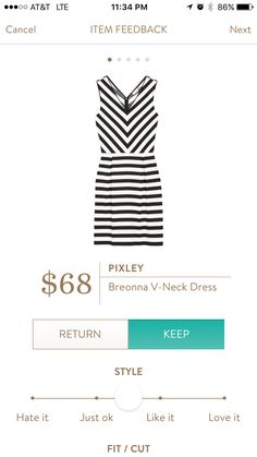 Pixley Breonna vneck dress