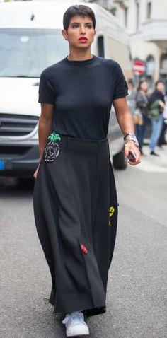Shop now. Natasha Zinko Skirt. Street Style. Men's Fashion Week.