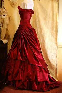 Red corset dress