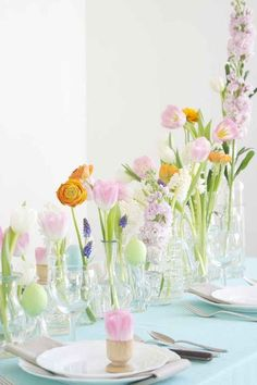 21 Beautiful Easter Table Settings-#easterdecorations