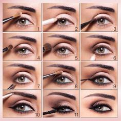 Simplify eye makeup application and learn how to do eye makeup with fail-safe eyeliner tips, expert eyeshadow tips and smokey eye tutorials. How To Do Eyeshadow, Eyeshadow Tips, How To Apply Eyeliner, How To Apply Makeup, Learn Makeup, Eyeshadow Makeup, Makeup Art, Makeup Brushes, Hair Makeup