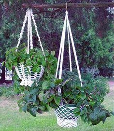 Country Cottage Plant Hanger Crochet Pattern