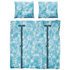 Snurk Home La Piscine Cotton Duvet Cover Set (610 BRL) ❤ liked on Polyvore featuring home, bed & bath, bedding, duvet covers, blue, cotton pillow cases, blue duvet sets, snurk bedding, cotton pillowcases and cotton duvet sets