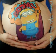 #belly painting# minions