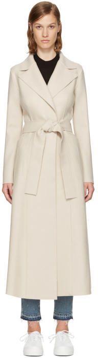 Harris Wharf London SSENSE Exclusive Beige Wool Long Duster Coat