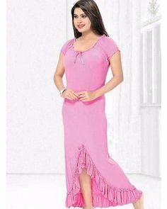Pink Nighty - FL-0038 - Flourish Nightwear - Nighty - diKHAWA Online  Shopping in a81c6e3c1