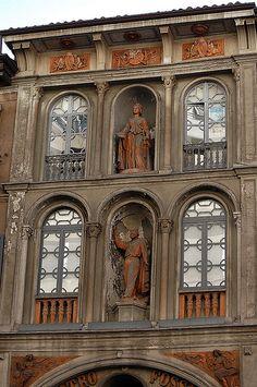Teatro Fossati, corso Garibaldi. Italian Beauty, Italian Art, Milan, French Exterior, Pisa Italy, Vatican, Italy Travel, The Good Place, Architecture Design